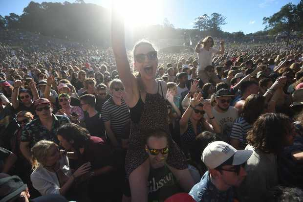 Punters at Splendour in the Grass 2016 at Byron Bay. Photo Marc Stapelberg / The Northern Star