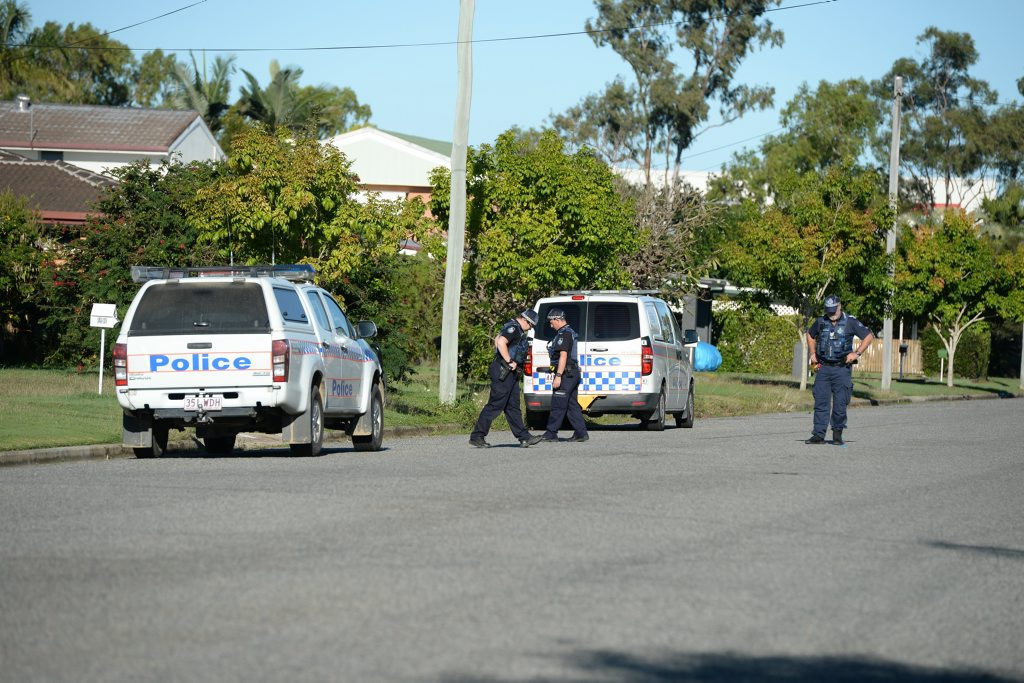 Police have established a crime scene and are searching George Milton St in West Mackay.