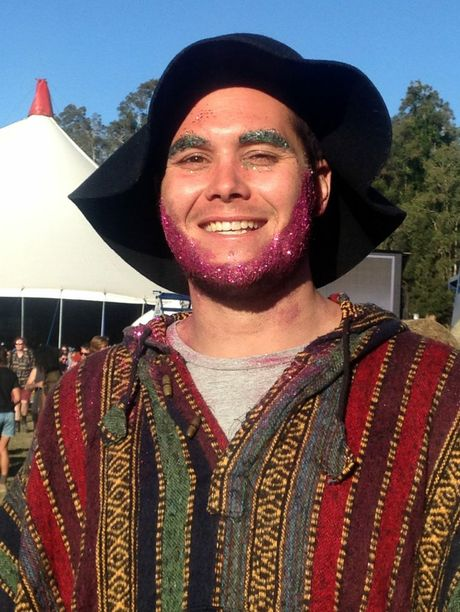 Tim Pocock from Perth got glittered up for the final day of Splenodur in the Grass.