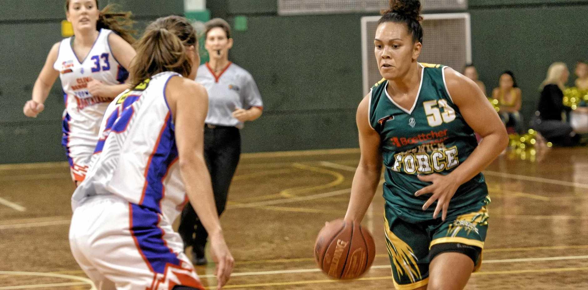 Ipswich Force basketballer Soana Lucet.