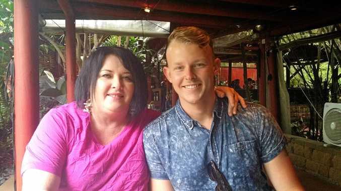 FAMILY:MasterChef semi-finalist Harry Foster pictured with his mum Ria McClelland.