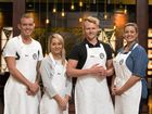 SO CLOSE: MasterChef's final four, from left, Matt Sinclair, Elise Franciskovic, Harry Foster and Elena Duggan. Elise's elimination means now only the three Sunshine Coast contestants remain in the competition.