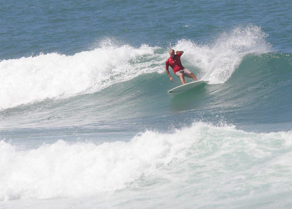 A surfer gets a nice wave at Deadman's at Mooloolaba Photo: Brett Wortman / Sunshine Coast Daily