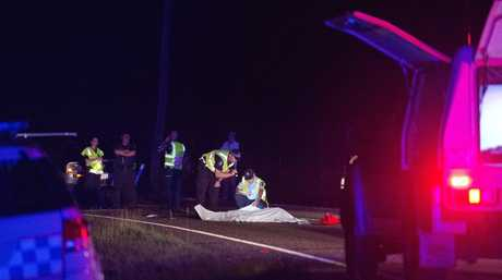 Fatal motorbike accident at Benaraby.Photo Mike Richards / The Observer