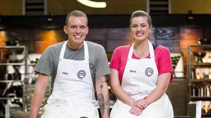 asterChef Australia finalists Matt Sinclair and Elena Duggan.