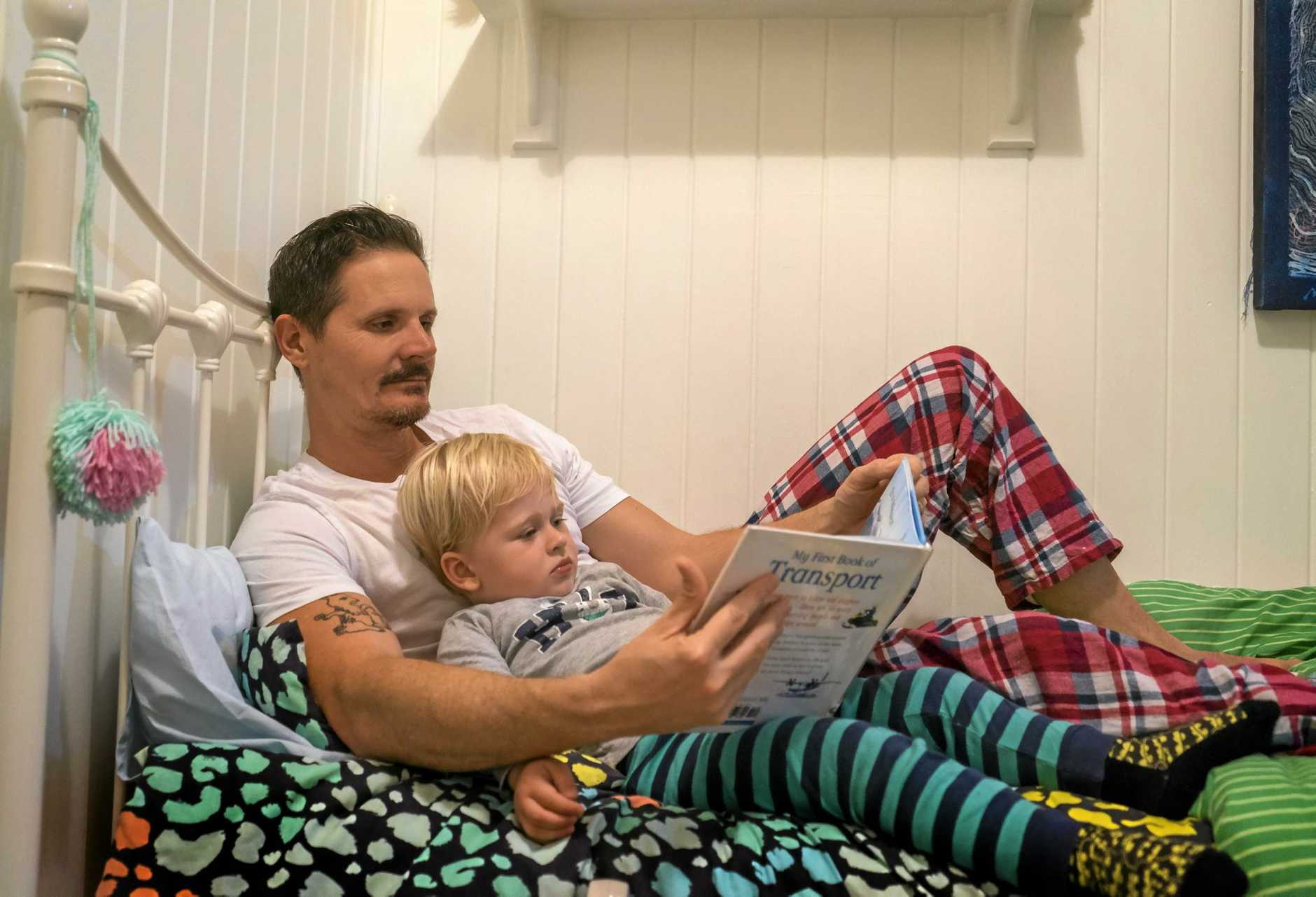 STORY TIME: Dads Read is a national campaign to get the male role model reading to children from birth.