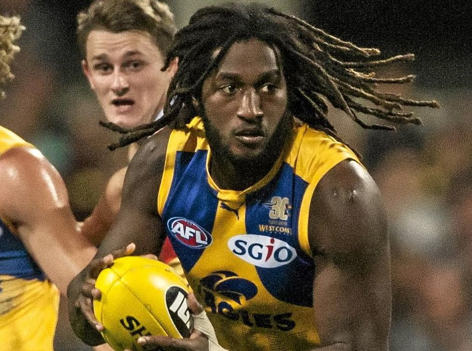 MISSING SPARK: Nic Naitanui of the West Coast Eagles is a chance to return next week.