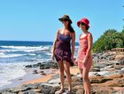 SUMMER WEATHER: Lilia Carvalhais and Sonia Henriques at Moffat Beach were in the mood for some warm weather.