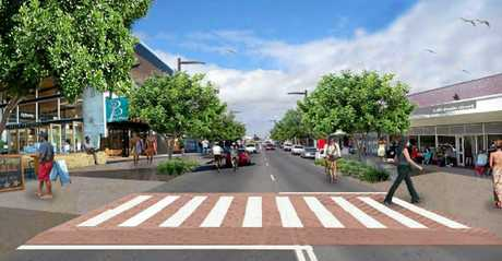 An improved streetscape will be included in a new Hervey Bay CBD.