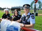 ON TRACK: Ipswich Crimestoppers Volunteer Committee members Sergeant Nadine Webster, Clair Turner and Inspector Keith McDonald promote the Crimestoppers Race Day to be held on August 19.