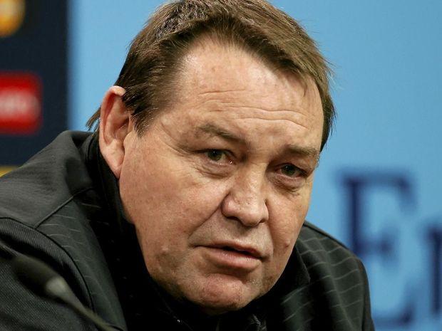STAYING PUT: New Zealand head coach Steve Hansen.