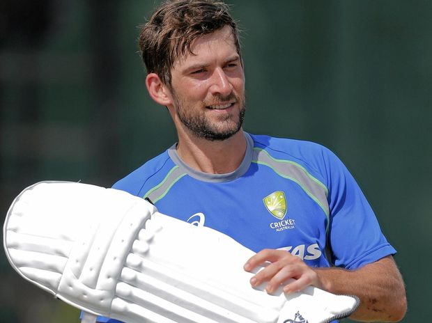 FEELING REFRESHED: Australian cricketer Joe Burns pads up for a practice session in Colombo, Sri Lanka.