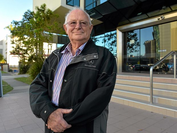 SOME CLOSURE: Fraud victim Alfred Niehaus leaves Maroochydore Court House.