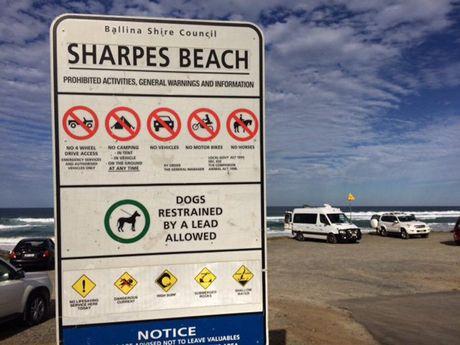 Sharpes Beach at Skennars Head. The scene of a shark encounter.