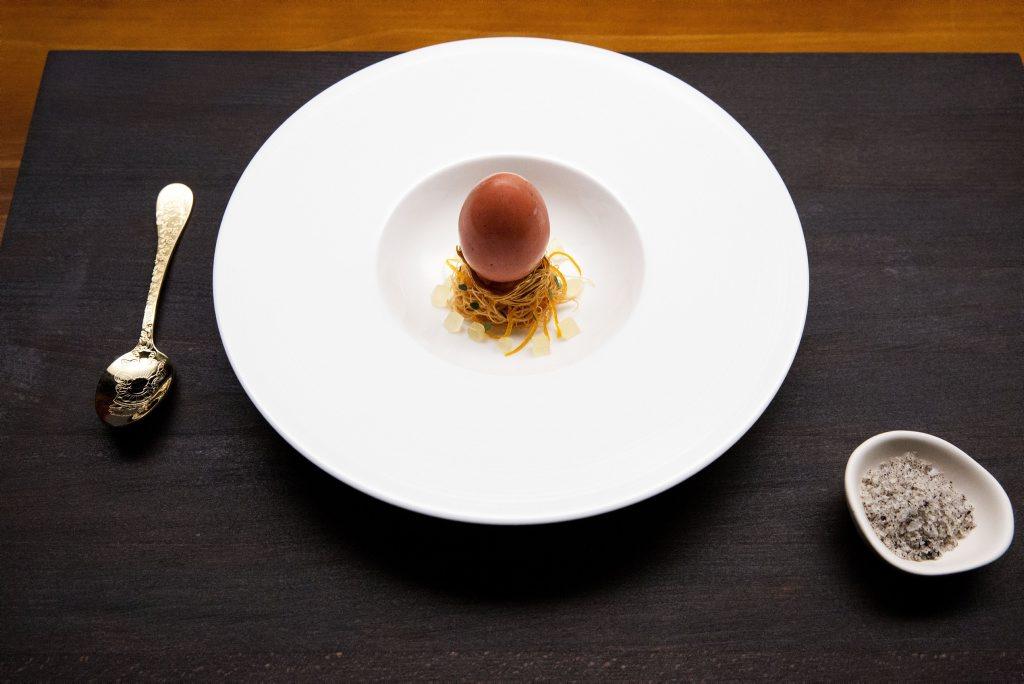 Heston Blumenthal's Verjus in Egg dessert as featured on the MasterChef Australia 2016 grand final.