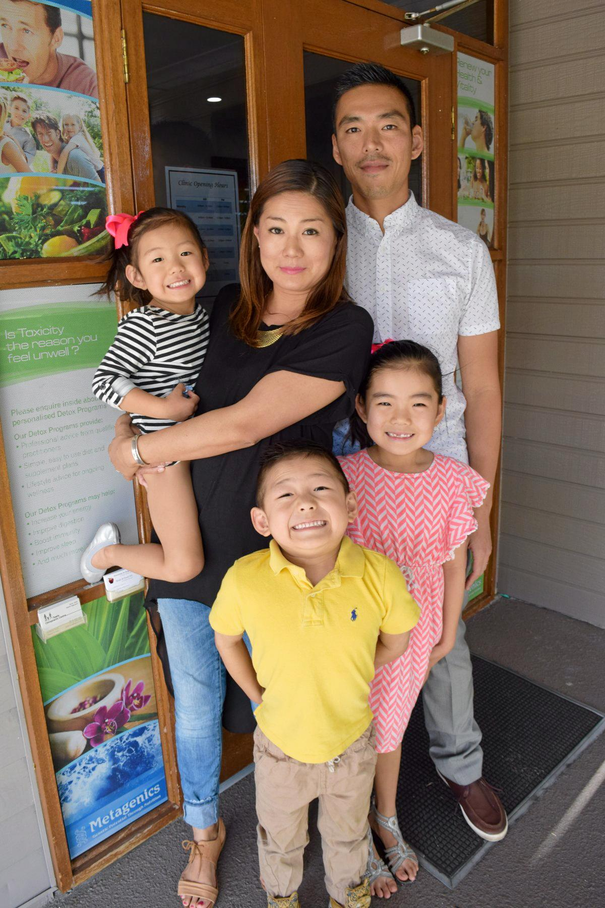 NEW CHIRO: Yeppoon's Towle Chiropractic Centre introduces their new Chiropractor Keiichi Kageyama. Pictured with his wife Aya and children form left, Mirai, Shion and Mai.