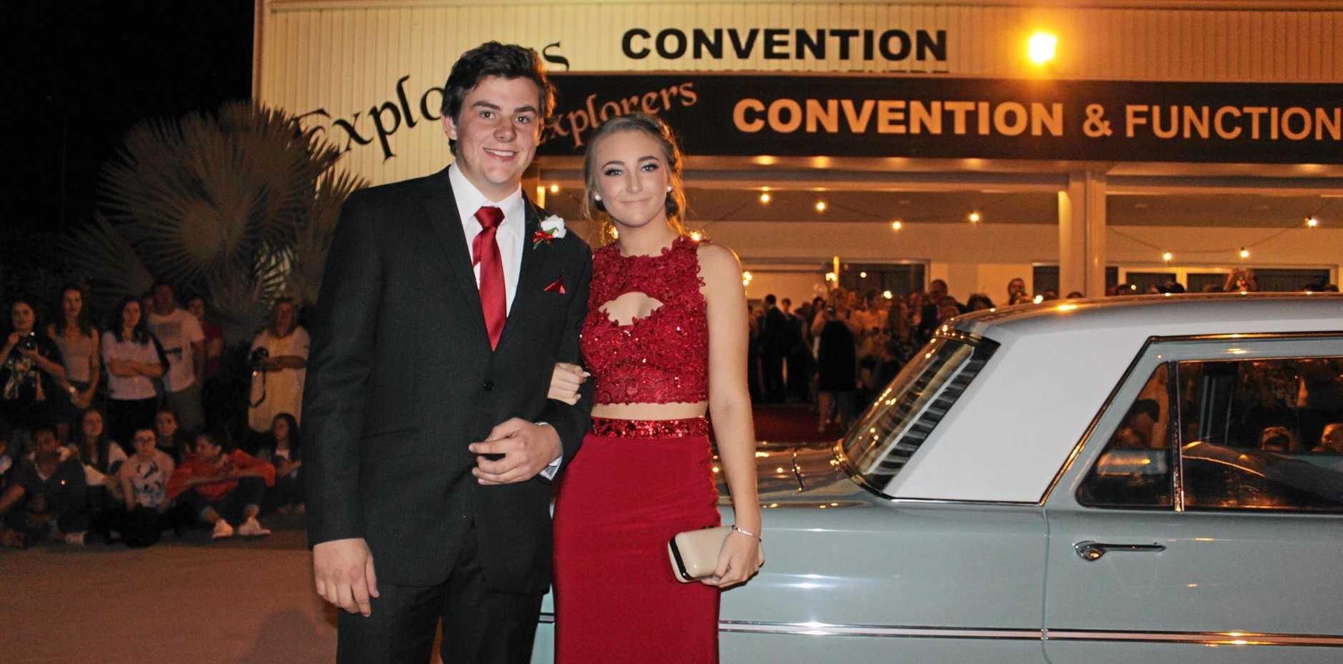 Elliot Lewis and Hope Ferguson at the St John's Formal in Roma.