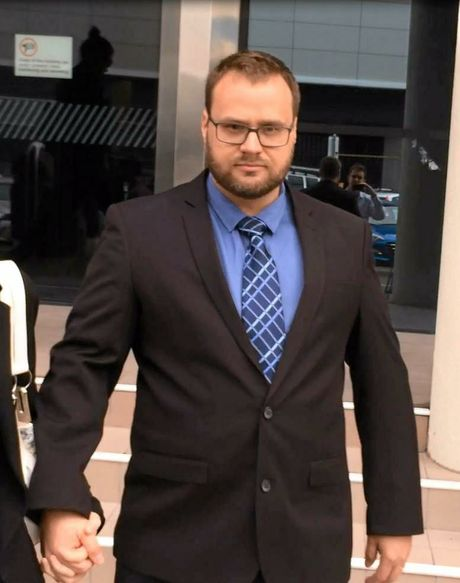 Matthew William Porter, 33, leaves Maroochydore Court House after being sentenced for dangerous driving causing death.