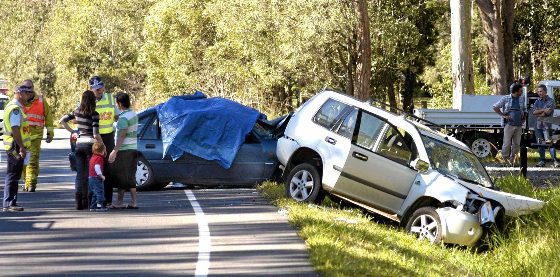 The scene of the crash in which Jayden Watt was killed on Noosa-Cooroy Rd in 2007.