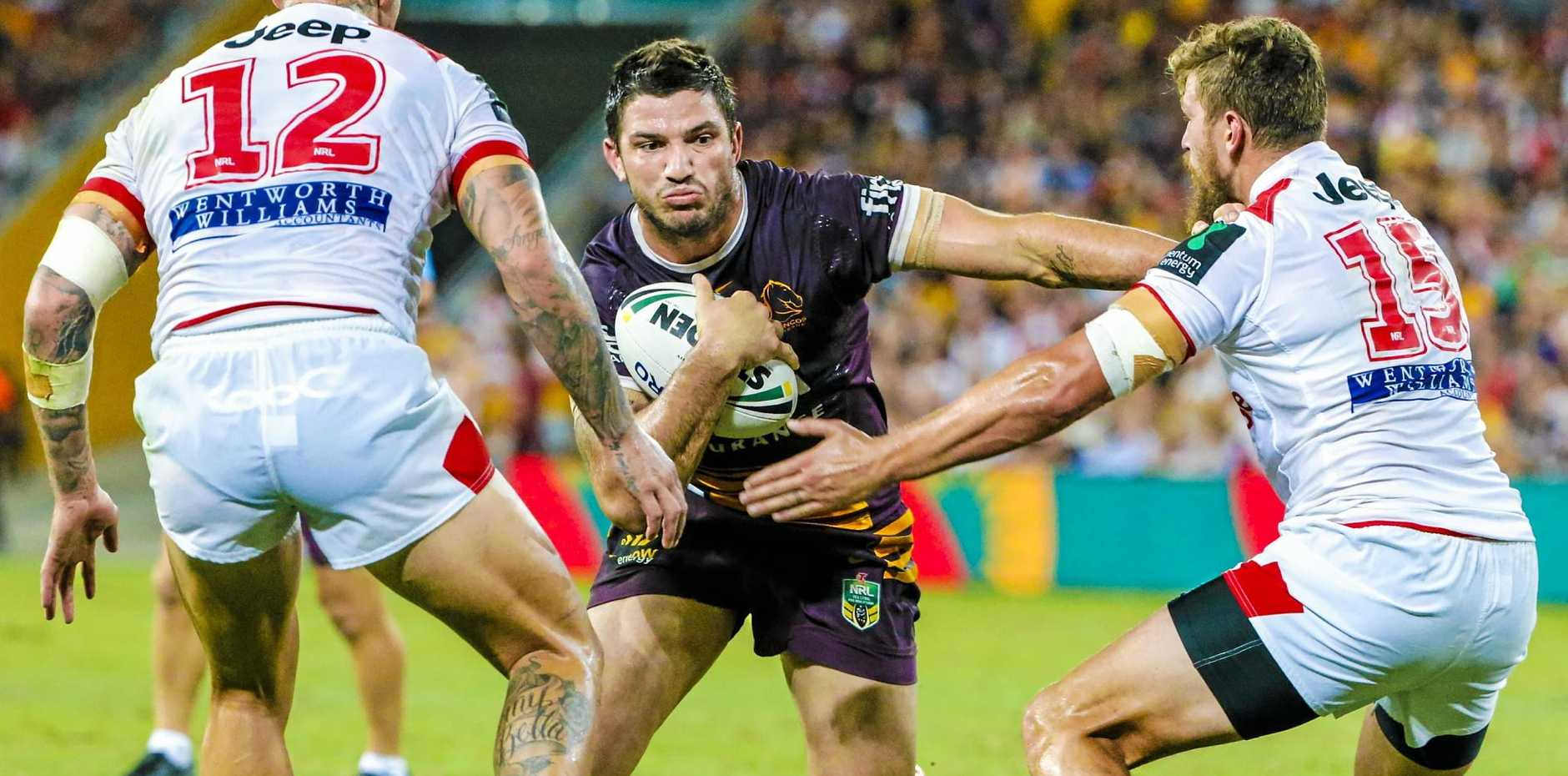 TIMELY RETURN: Matt Gillett of the Broncos will be back on deck to play the Roosters.