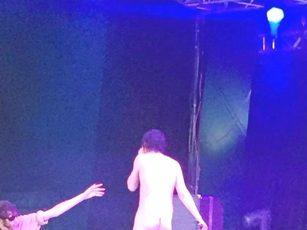 Fat White Family's lead singer Lias Kaci Saoudi stripped-down for his performance at Splendour in the Grass, and got the band expelled.