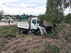 The accident is in the Brisbane-bound lanes about 1km north of the Yamanto turn-off.
