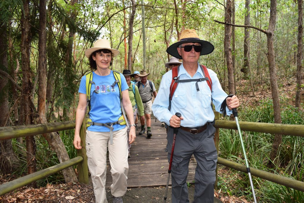 Ipswich Bushwalkers are looking for more members to join this year. Wendy Baker and Manfred Hoge of the Ipswich Bushwalkers. Photo: Anna Hartley.