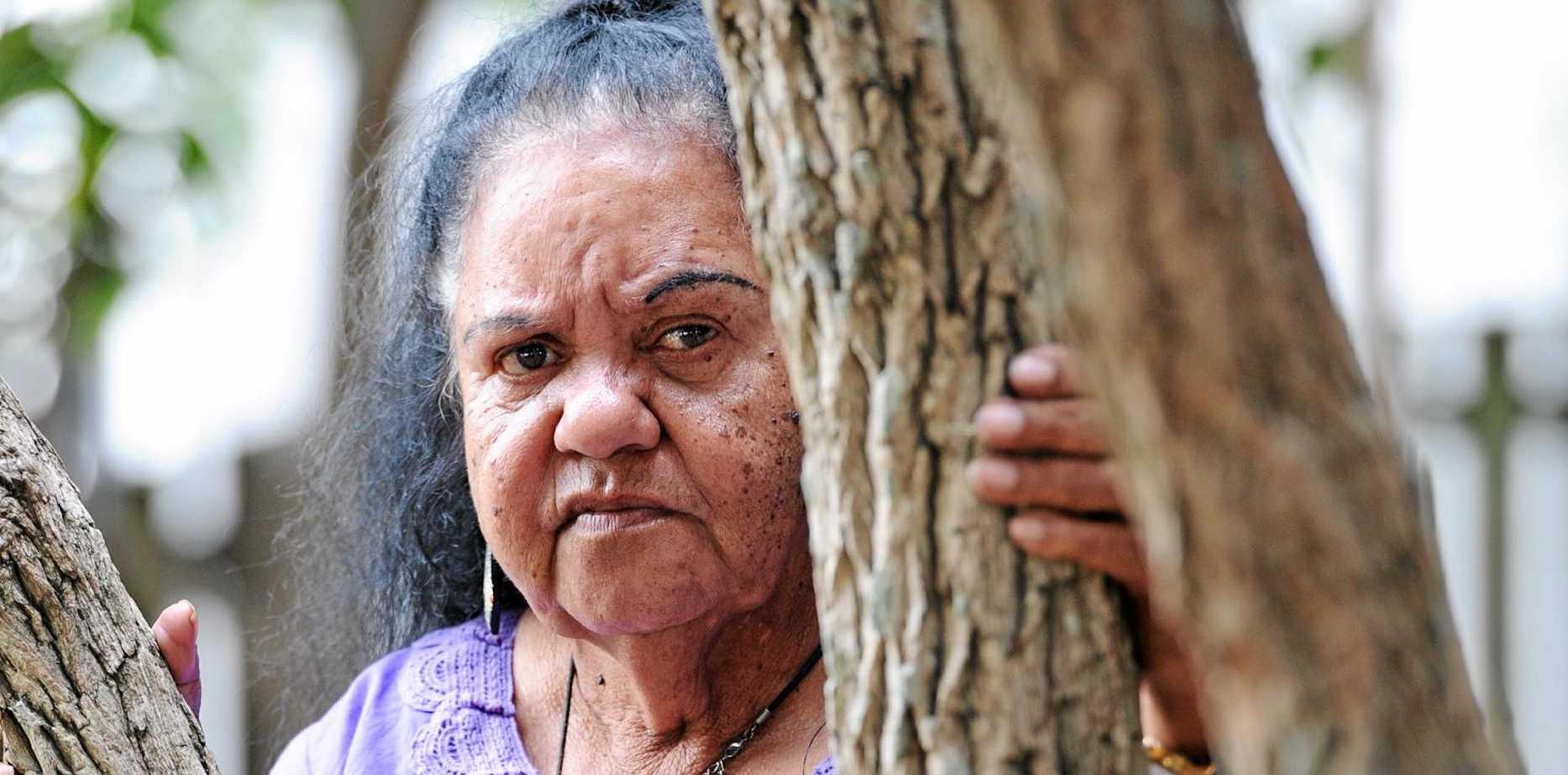 LET THEM STAY: Butchulla elder Mally Clarke.