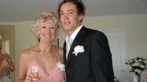 Todd Parnell and his mum, Jenny Stirling.