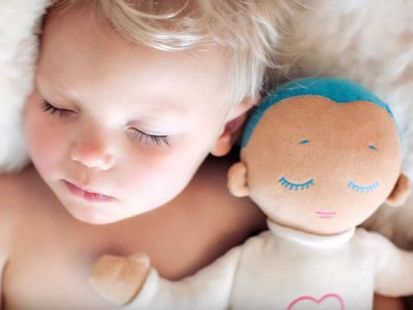 The dolls make breathing and heartbeat sounds, and are believed to have a range of benefits for babies.