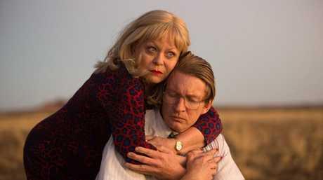 Jacki Weaver and David Wenham in a scene from the movie Goldstone.