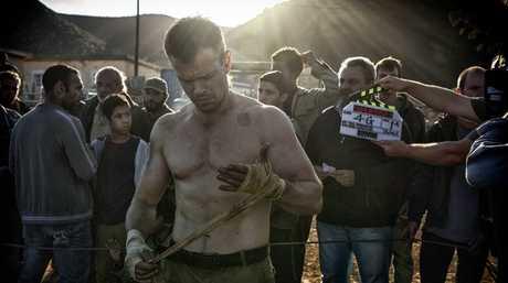 Matt Damon pictured on the set of the movie Jason Bourne.