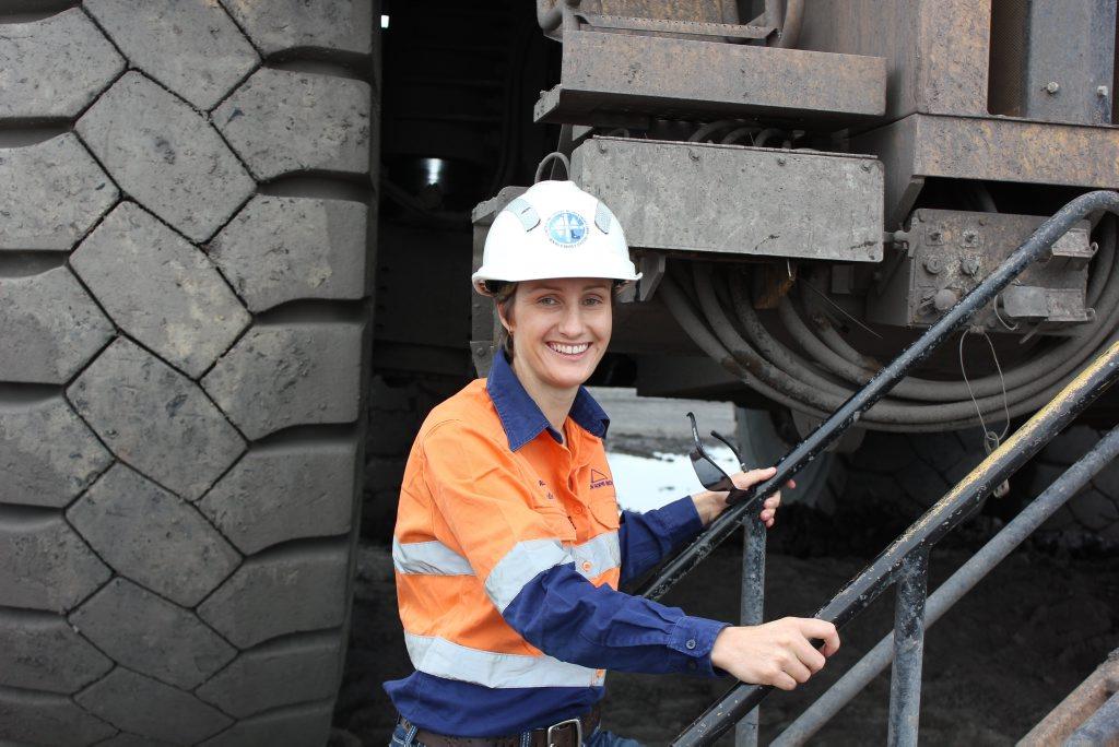Natalie Kimber operates bulldozers and dump trucks at New Acland coal mine.