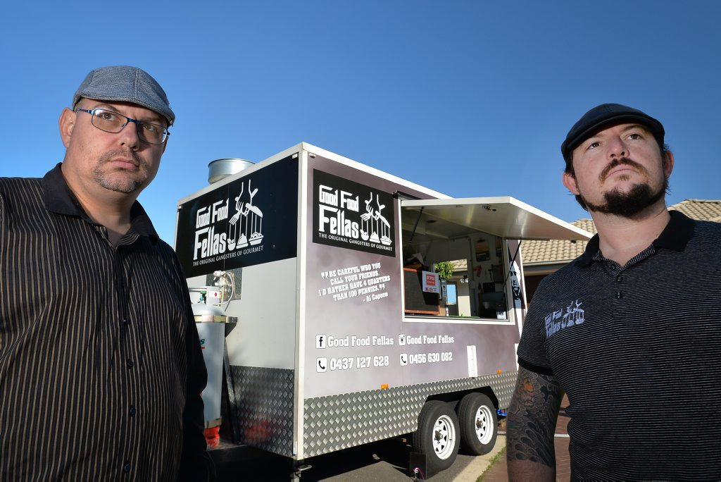 Raymond Vonder and Joel Young, from Sunshine Coast-based food truck Good Food Fellas.