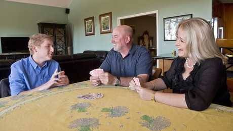 REGISTER FOR HEALTH: Lachlan, Greg and Rhonda Miles hope that Lachlan's registration for medical cannabis trials will be successful . Thursday July 28 , 2016.