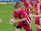 Red Ant Lachlan Steinhardt runs the ball forward in Brisbane last Friday.