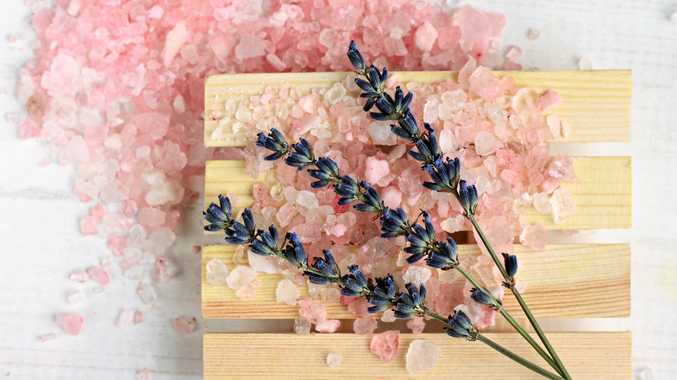 Add a lavender aroma to epsom salts for a bath treat.