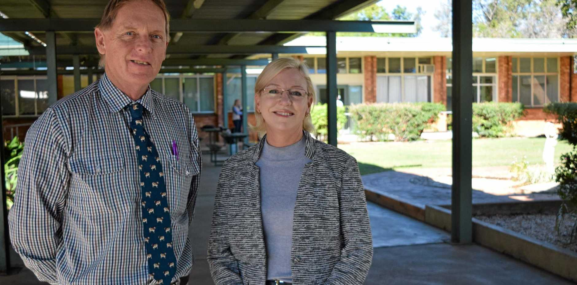 STEPPING UP: Queensland Agricultural Training College's new CEO Mark Tobin with Queensland Agricultural Minister Leanne Donaldson.
