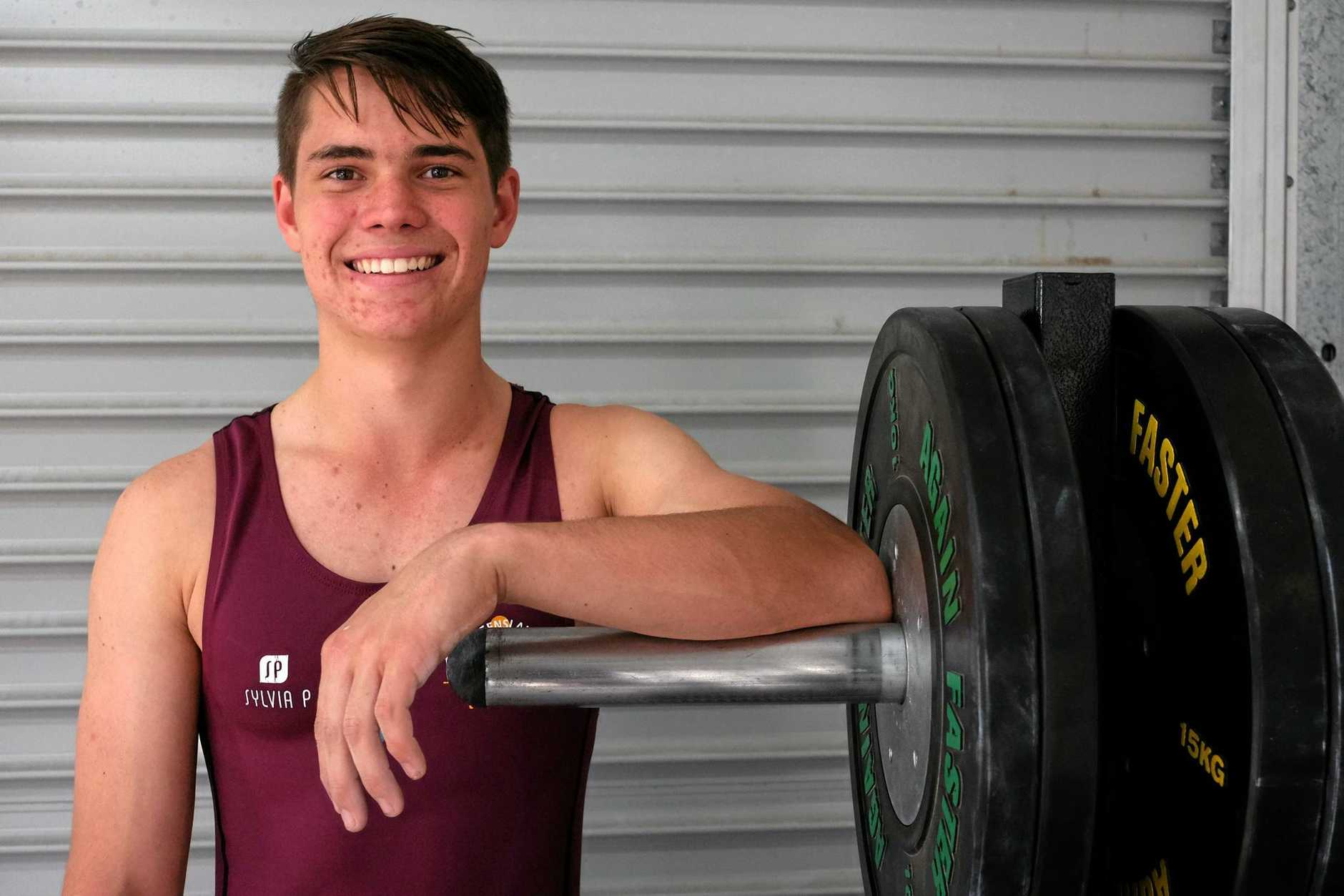 GETTING RESULTS: Weightlifter Matthew Eichmann has done extremely well in the short time he has been involved in the sport.