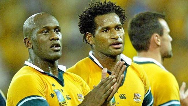 STARS IN DALBY: Wendell Sailor and Lote Tuqiri will be special guests at the PCYC Sportsman's Night.