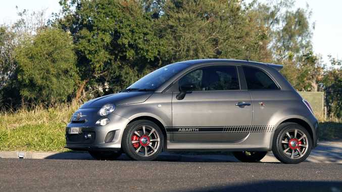 POCKET ROCKET: Abarth 595 hot hatch a little skinny on the kit but makes up for it with a stirring go kart-esque drive.