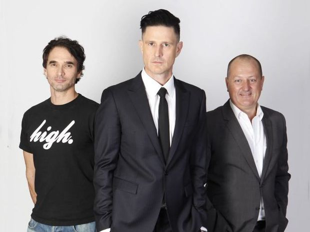 Gruen host Wil Anderson with panelists Todd Sampson and Russel Howcroft.