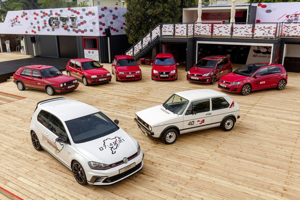 It all began in 1976. Volkswagen launched the first Golf GTI. A production run of only 5000 was planned. To date more than two million motorists around the world have gone for a Golf GTI.