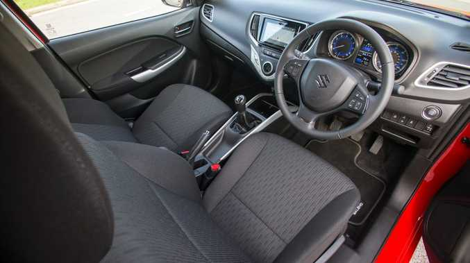 Inside the new Suzuki Baleno.