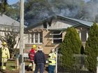 Tradesmen forced to flee from house fire