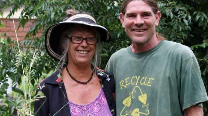 Mackay Community Garden educators Harmony Larkin and Luke Mathews