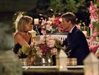 Keira Maguire and Richie Strahan in a scene from The Bachelor. Supplied by Channel 10.