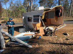 Caravan ended up 'all over the road' in Mt Hallen crash