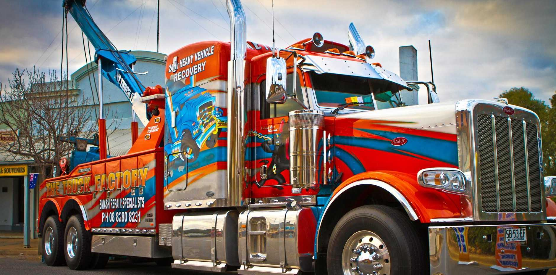 STAR OF THE ROADS: This Truck Factory 389 Peterbilt has won best graphics or signwriting at the mannum truck and ute show in previous years.