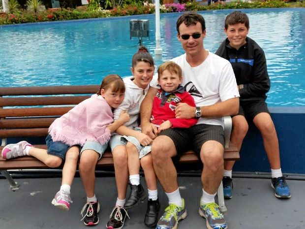 FAMILY MAN: The tragic death of Yorklea farmer Shane Rutherford has left his partner Alison and their four children without an income. A crowdfunding campaign has been launched to support the family.